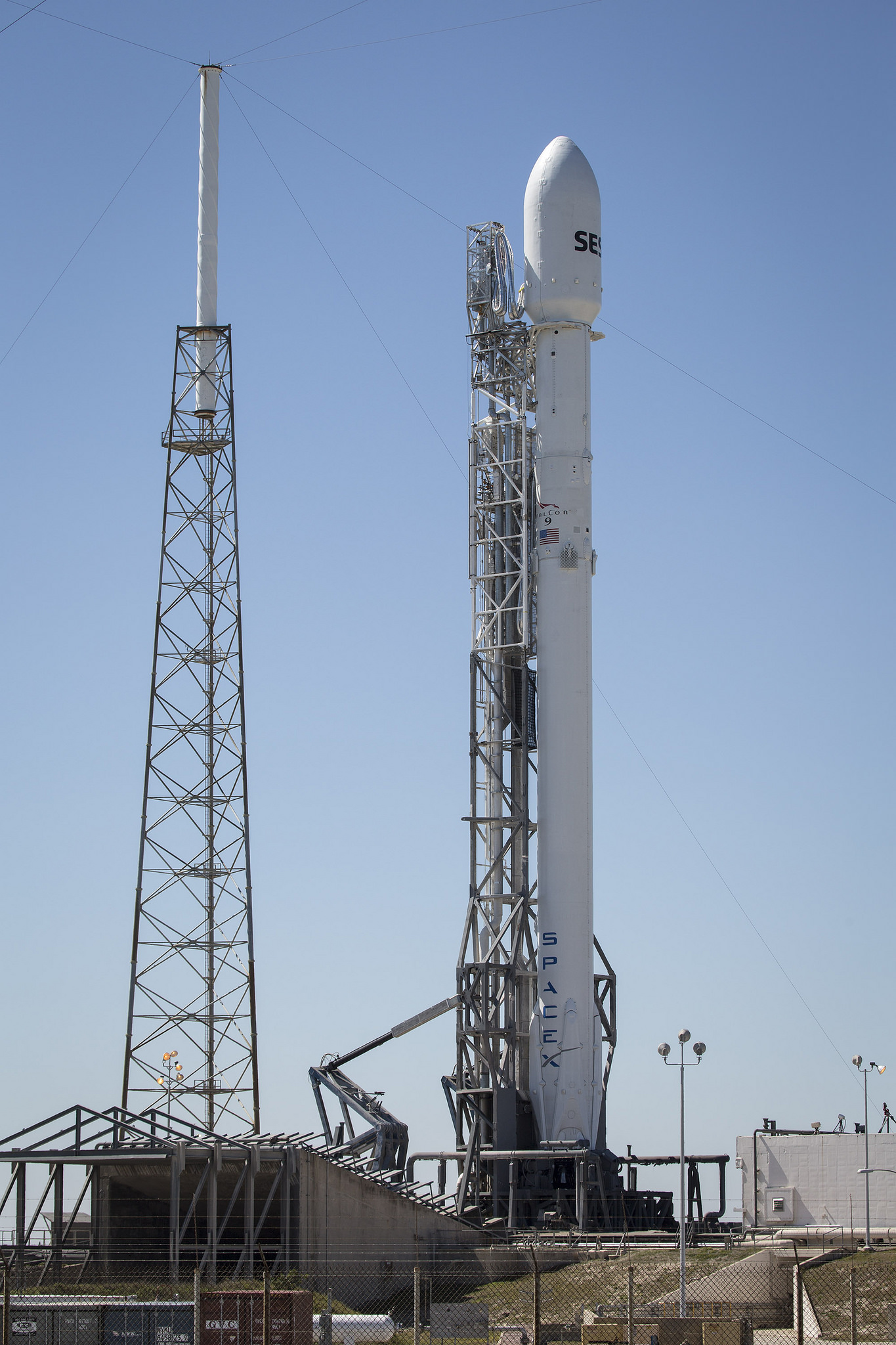 Falcon 9 Rocket Ready for Launch
