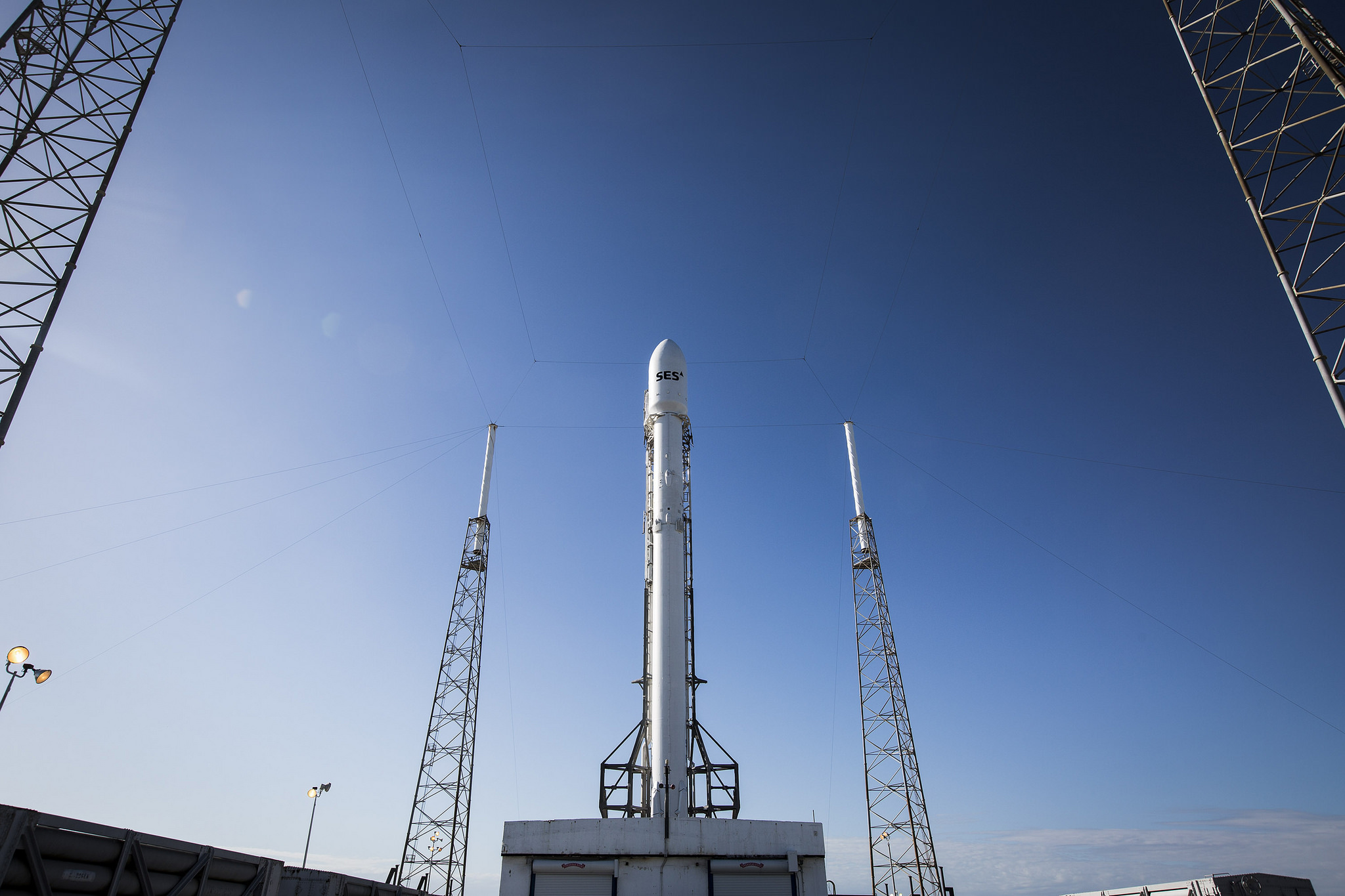 SES-9 Communications Satellite and Falcon 9 Rocket