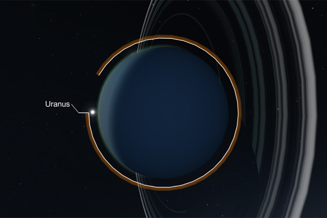 Uranus in Star Chart for VR