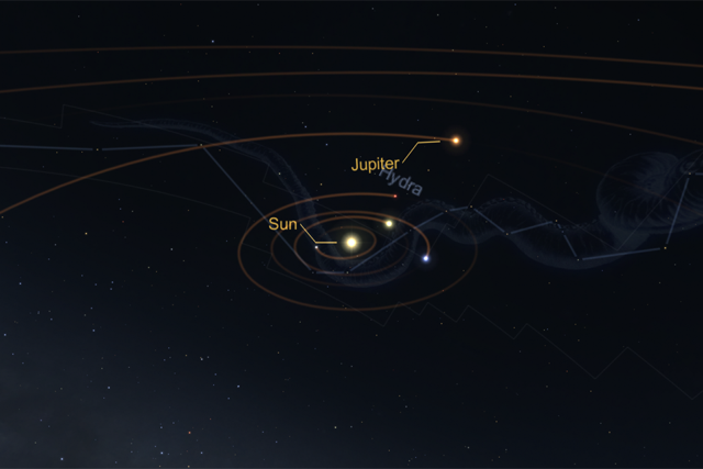 Solar System in Star Chart for VR