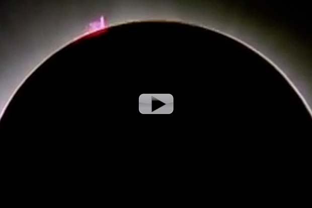 Solar Prominence Stands Out During Eclipse Totality | Video