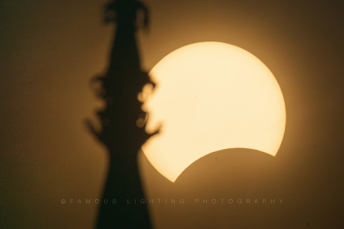 March 2016 Total Solar Eclipse Seen in Vientiane, Laos