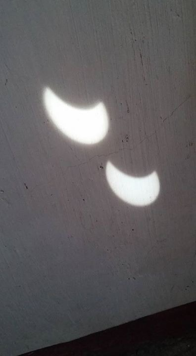 Ben Ali Tolentino caught this view of the March 2016 solar eclipse in projection from the Philippines.