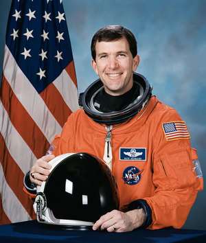 NASA portrait of astronaut Rick Husband, who commanded STS-107, space shuttle Columbia's last mission, lost in 2003