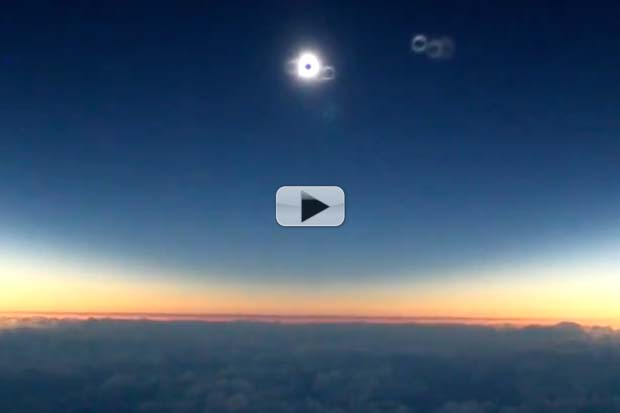 Incredible Solar Eclipse View Shot During Alaska Airlines Flight | Video