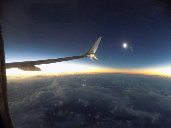 Another view of the total solar eclipse of March 8, 2016, as seen by Space.com skywatching columnist and other passengers aboard Alaska Airlines Flight 870 from Alaska to Hawaii.