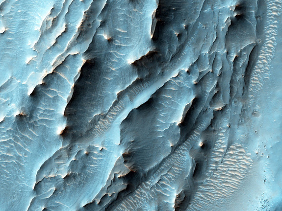 NASA's Mars Reconnaissance Orbiter used its High Resolution Imaging Science Experiment camera to capture this view of an area on the southern floor of the Red Planet's Gale Crater.