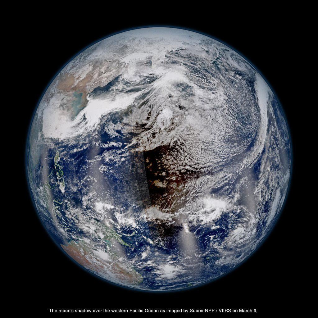 Shadow of the Moon: Satellites See Total Solar Eclipse from Space (Photo)