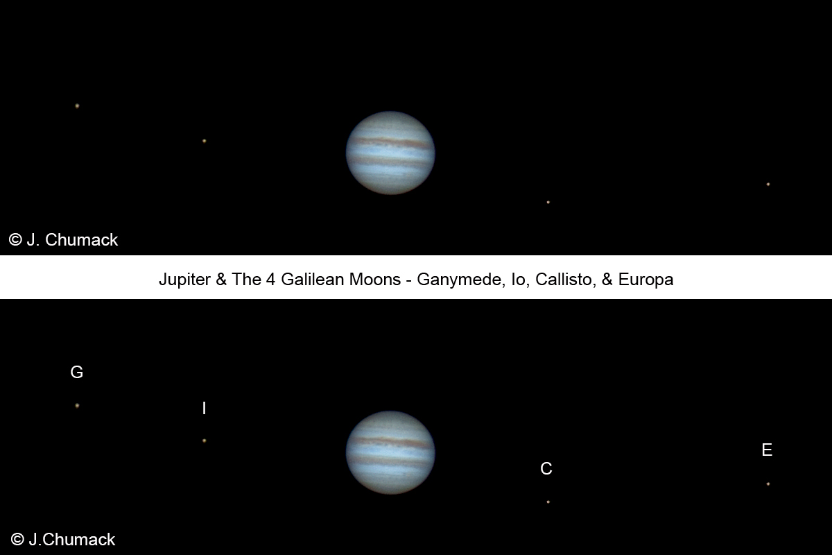 Photographer Catches Jupiter with Its 4 Galilean Moons
