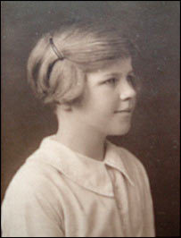 "Venetia Burney at age 11, when she suggested the name ""Pluto"" for the newly discovered ninth planet in 1930."