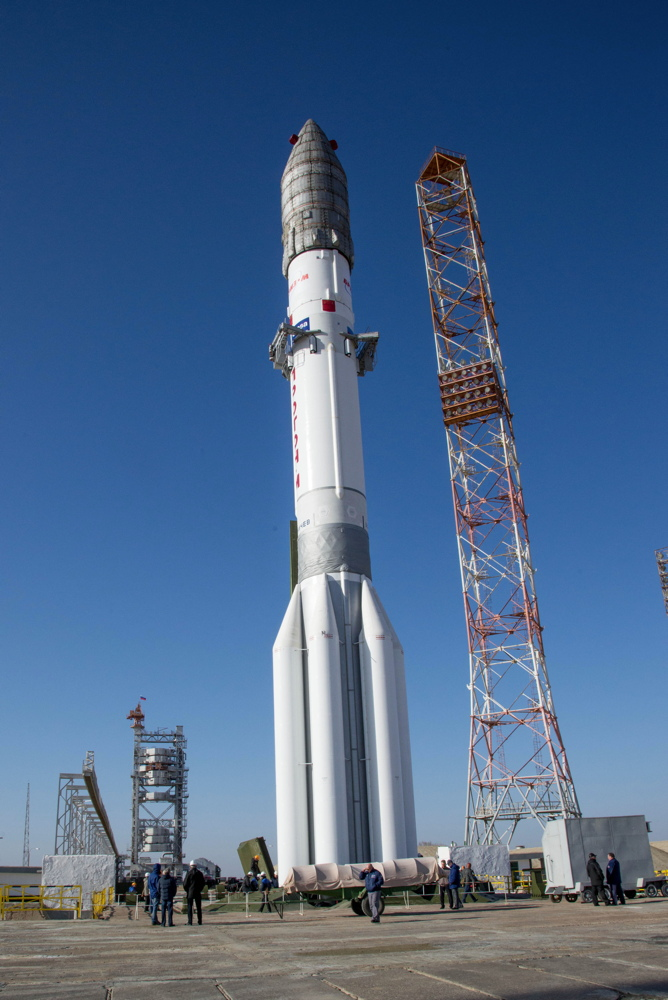 ExoMars 2016 Spacecraft on the Launchpad