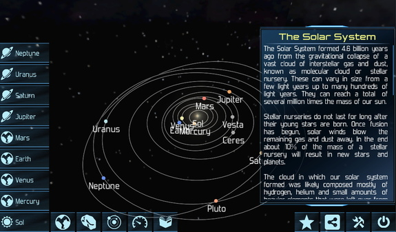 The Solar Explorer HD app for Android lets you fly around the solar system and explore all the major bodies in realistically rendered 3D or pull back and watch the whole thing work.
