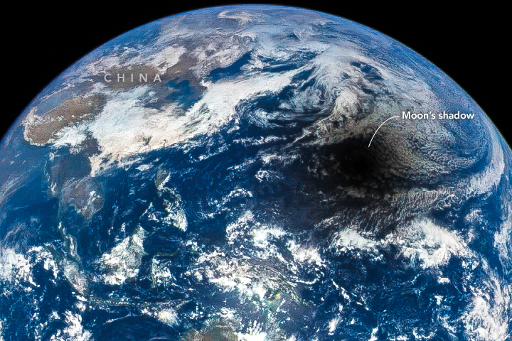 DSCOVR's View of March 2016 Total Solar Eclipse