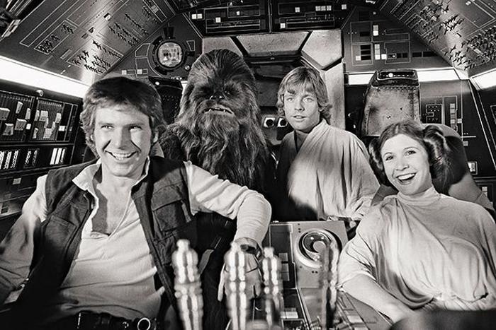 Millenium Falcon and crew, star wars