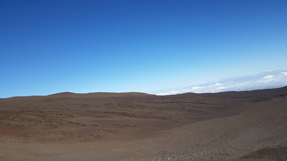 As we ascended, plants became sparse and the landscape resembled Mars.