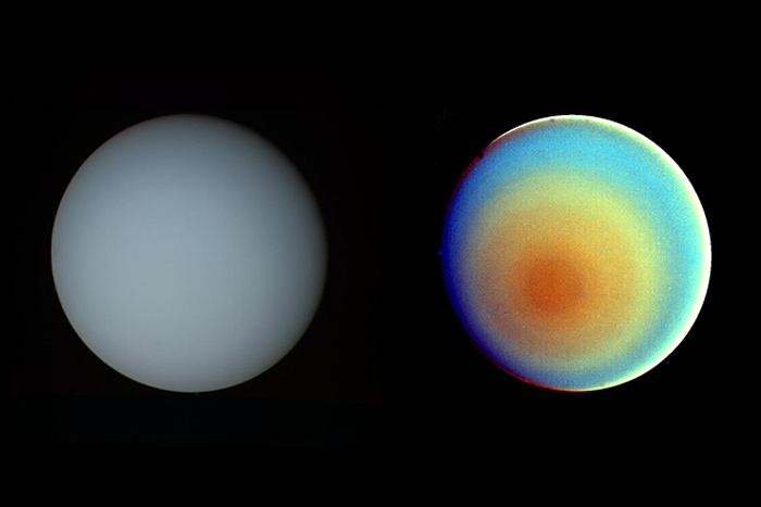 Uranus has a weird rotation and tilt