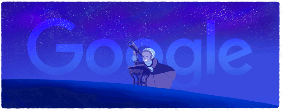 Google honored the the 266th birthday of German astronomer Caroline Herschel with her own animated Google doodle on March 16, 2016.