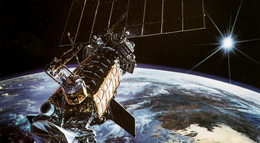 DMSP-19 weather satellite illustration