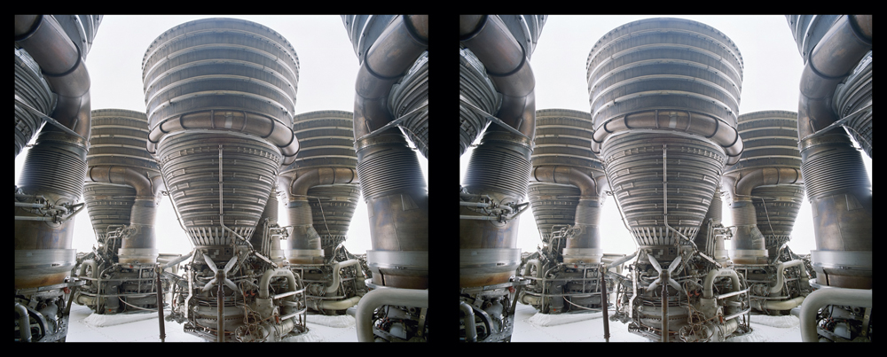 Apollo Saturn V F1 Engine Cluster Diptych