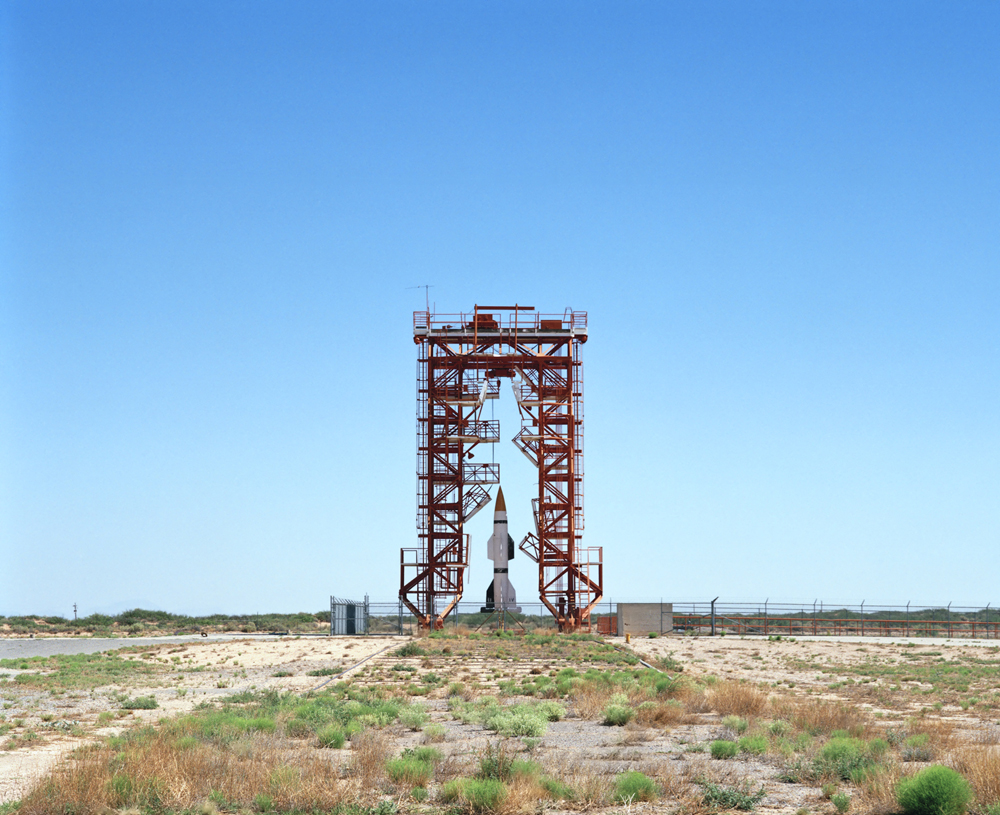Launch Pad and Gantry with Hermes A-1 Rocket