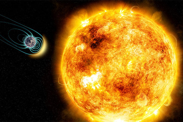 Sun and Magnetic Earth