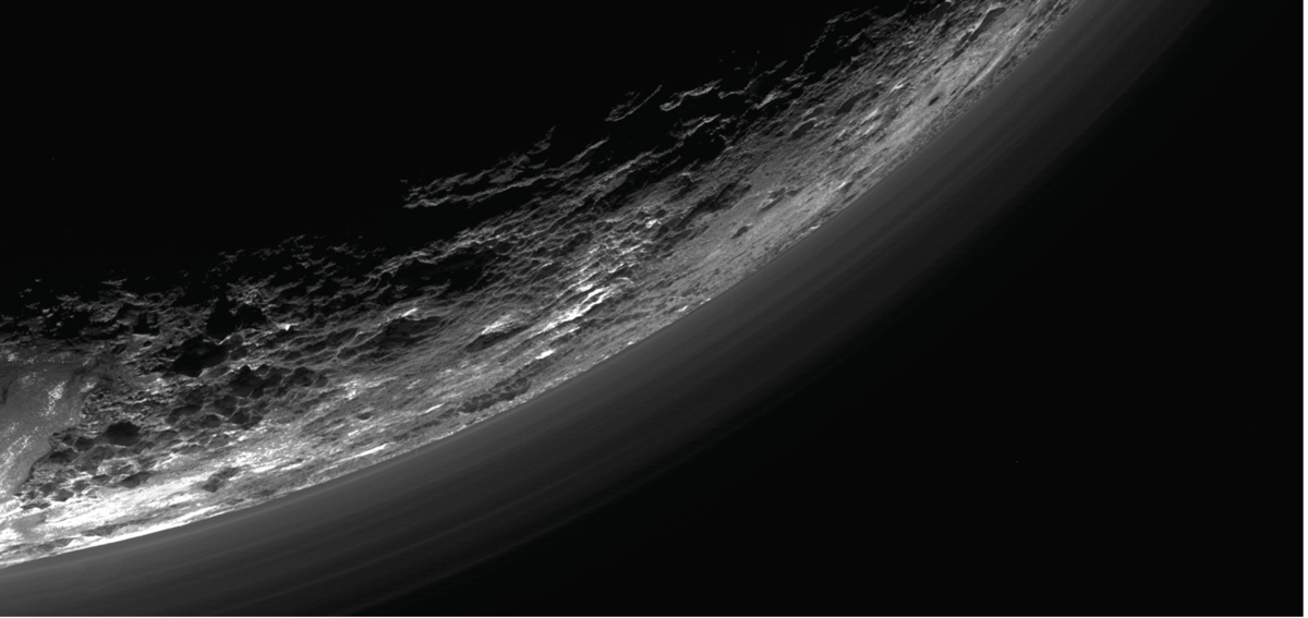 Haze Above Pluto's Surface