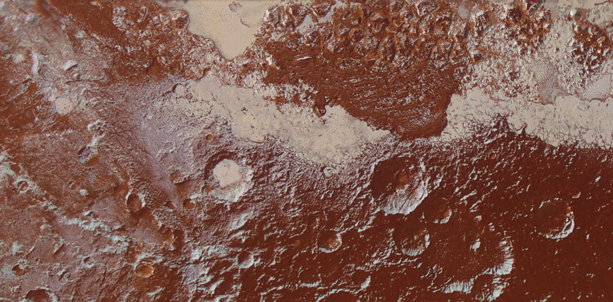 Enhanced Color View of Pluto