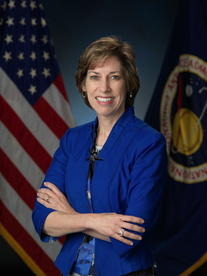 Ellen Ochoa, former space shuttle astronaut and current director of the Johnson Space Center.