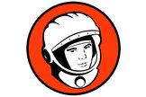 Yuri's Night logo depicting cosmonaut Yuri Gagarin.