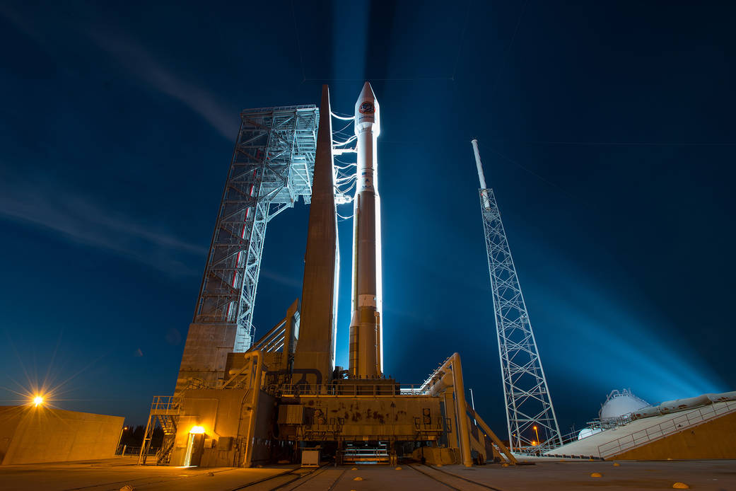 Orbital ATK Cygnus Spacecraft Atop Atlas V Rocket