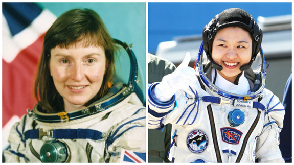 So-yeon Yi (Korea) and Helen Sharman (Britain).