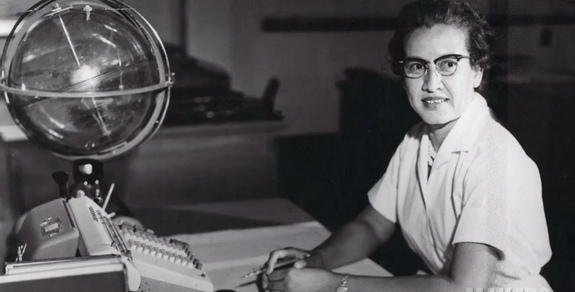 Katherine Johnson worked as a mathematician for NASA for over 30 years, starting in the 1950s. She was awarded the Presidential Medal of Freedom in 2015 for her work.