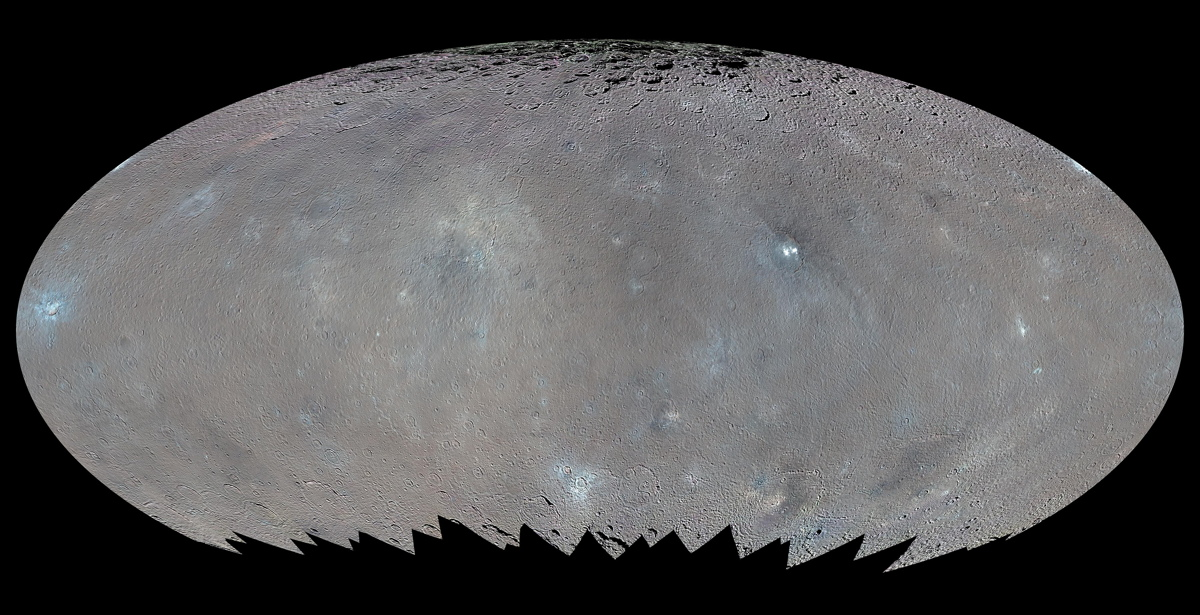 Enhanced Color Global Map of Ceres