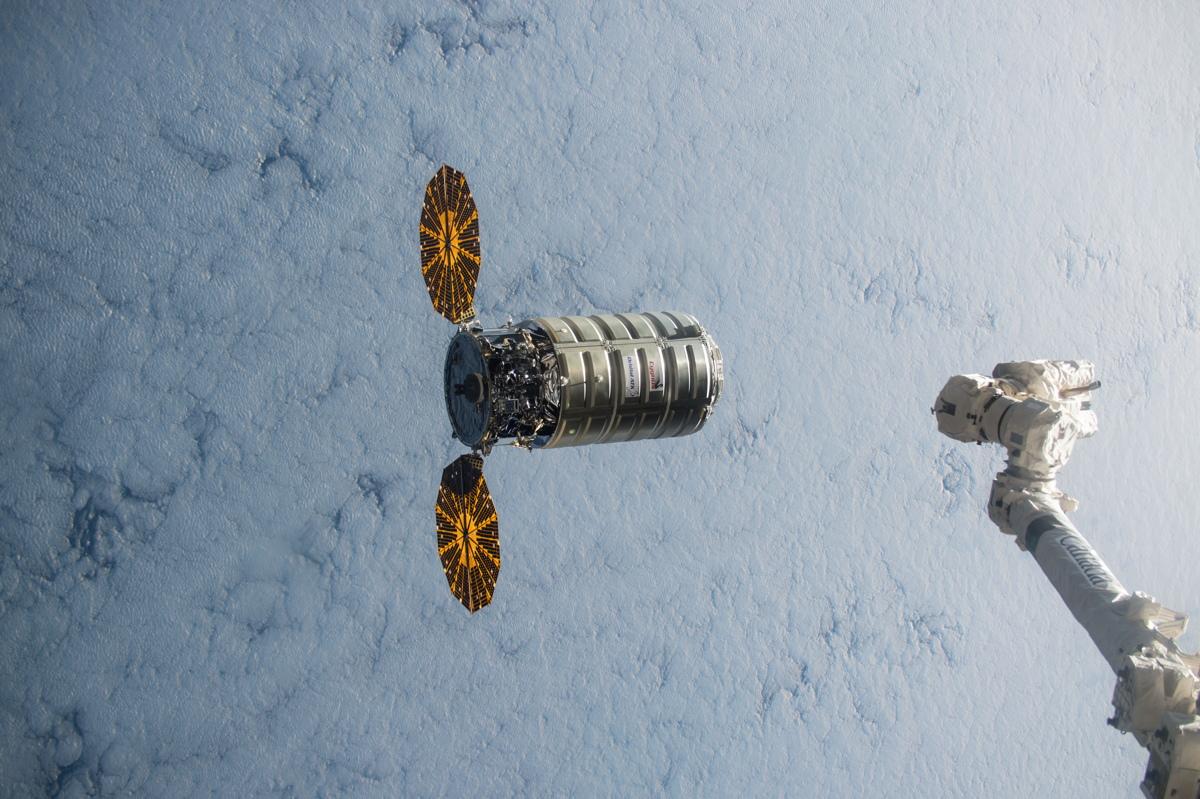 Cygnus Spacecraft Leaves International Space Station