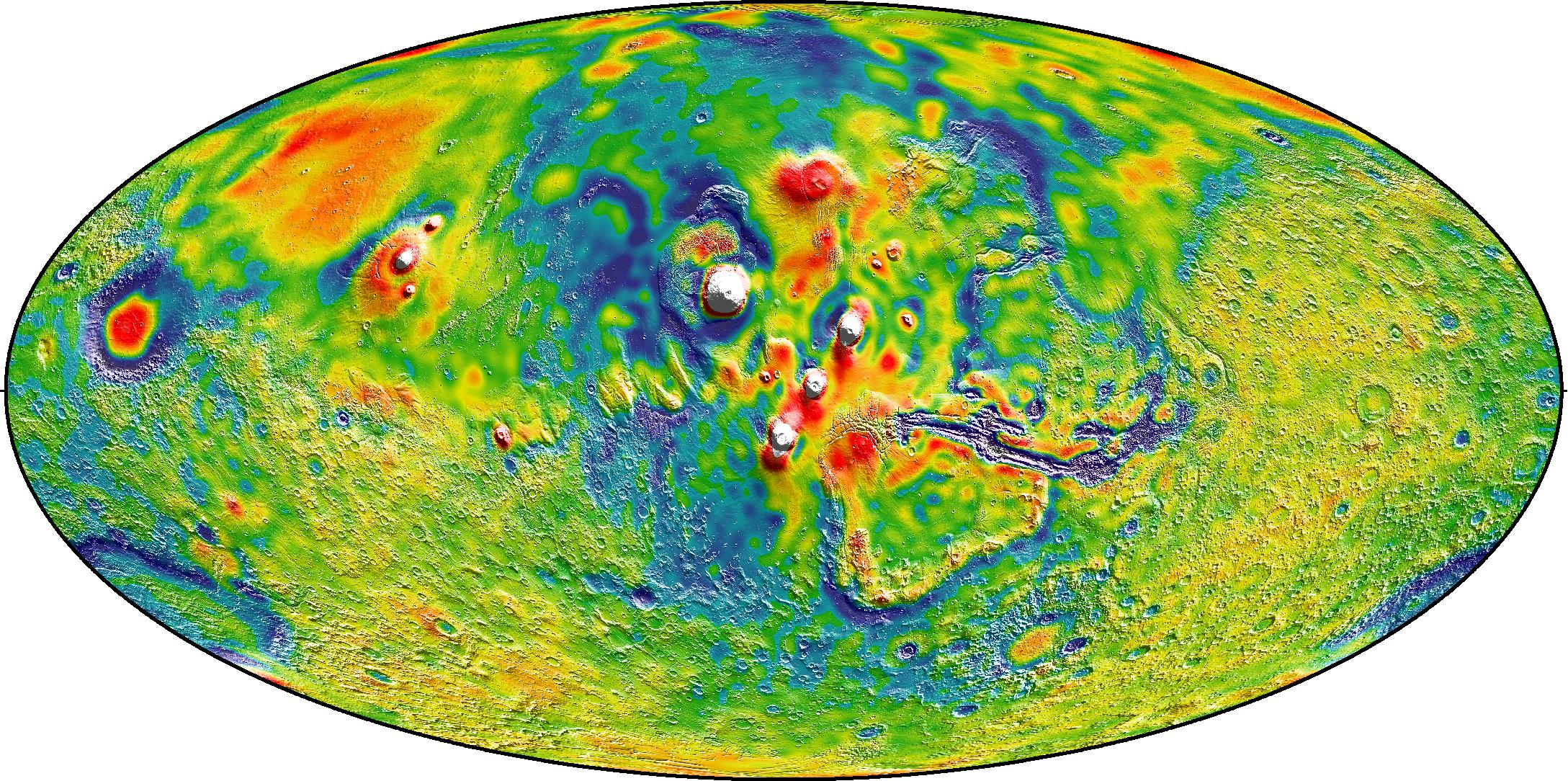 Thasis Volcanoes of Mars Map