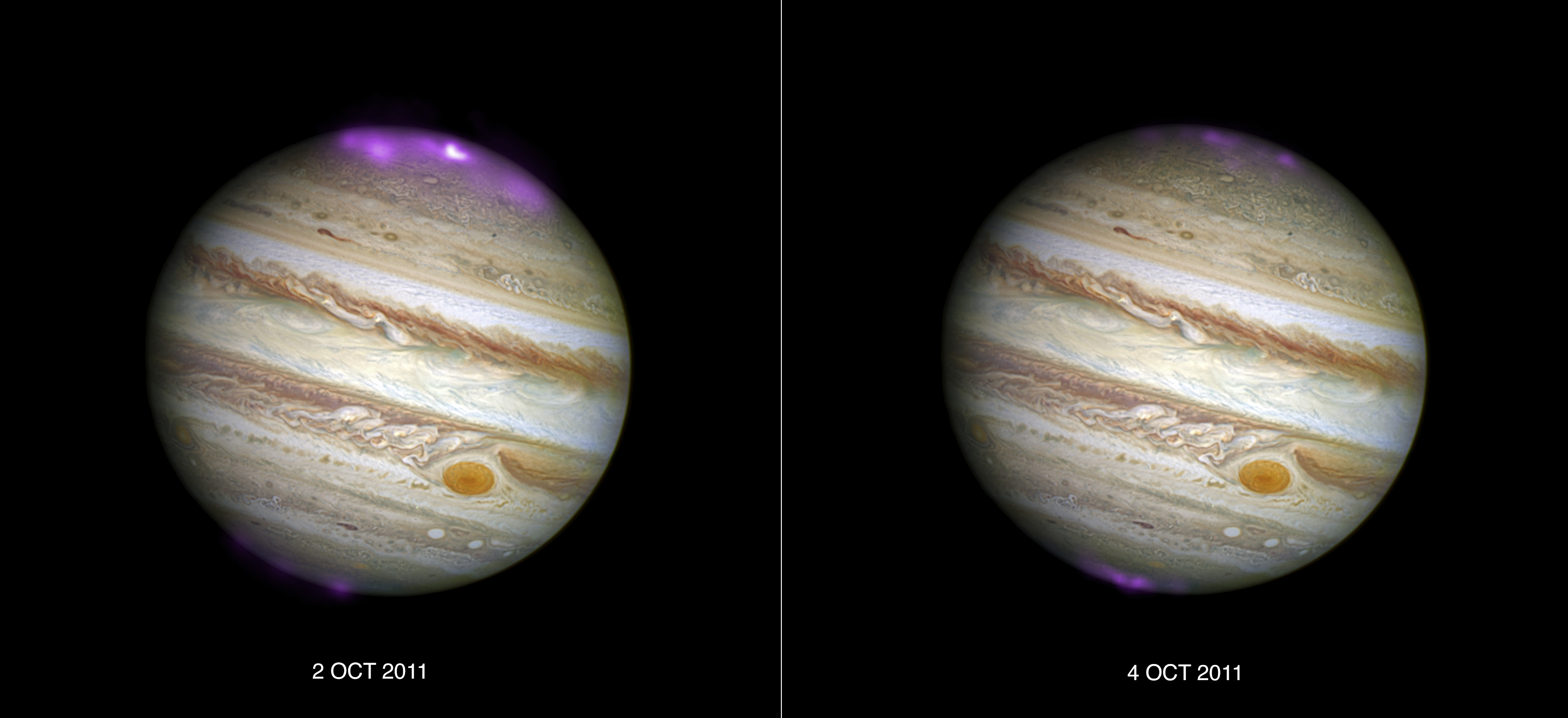 Solar Storms Supercharge Jupiter's Dramatic Auroras (Photo)