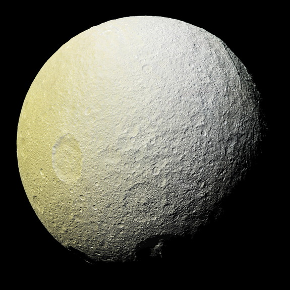 Saturn's moon Tethys may only have formed about 100 million years ago.