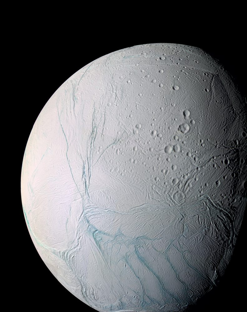 Enhanced Color View of Enceladus