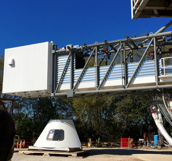 Once complete, the Crew Access Arm will be moved to Kennedy Space Center's Space Launch Complex 41, where ULA currently launches Atlas V rockets.