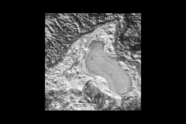 Frozen Nitrogen Lake on Pluto