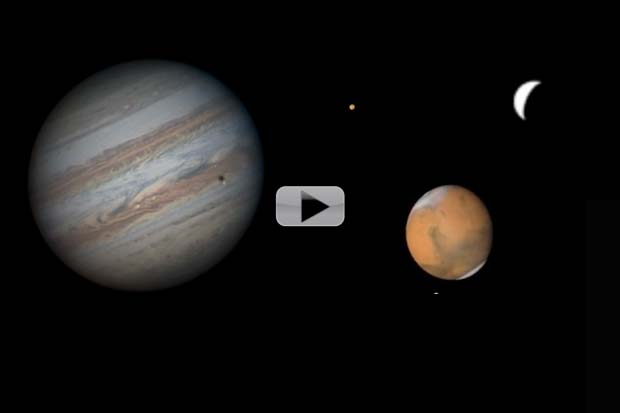 Jupiter, Mars and Mercury -- April 2016 Is Great Month To Skywatch | Video
