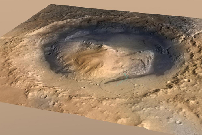 Mysterious Mars Mounds Were Liquid-Filled Craters