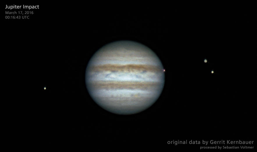 March 17, 2016, Jupiter Impact