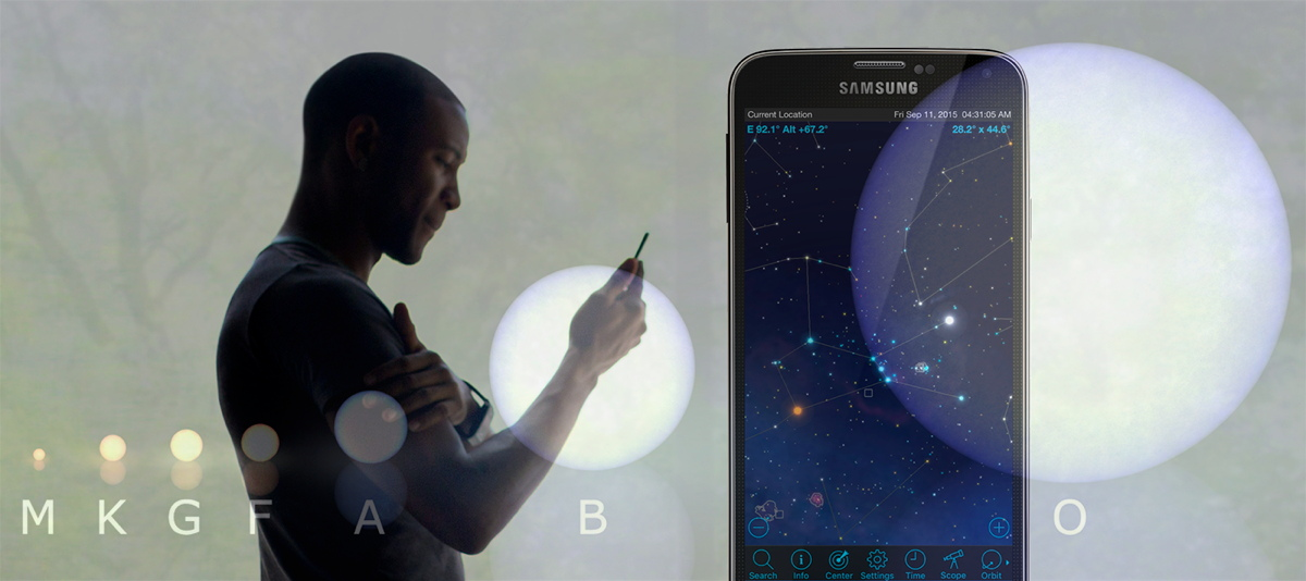 A Multicolored Starscape: Using Mobile Astronomy Apps to Explore the Stars