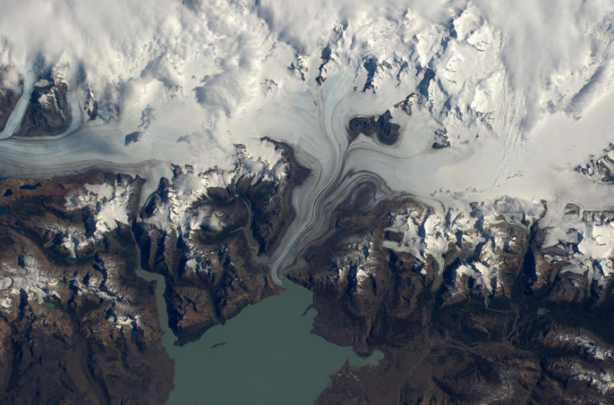 Patagonia's Southern Ice Field from ISS