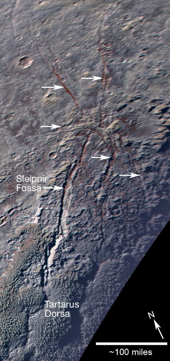 A new geological feature on Pluto, informally called a