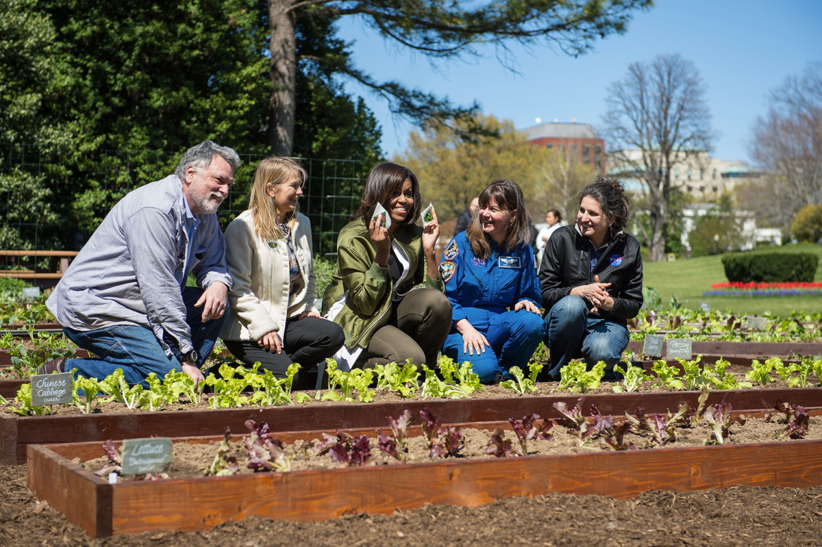 Space-Bound Veggies Will Also Sprout in White House Garden