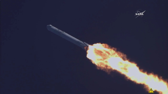 SpaceX's CRS-8 cargo mission launched to the International Space Station from Cape Canaveral, Florida, on April 8, 2016.