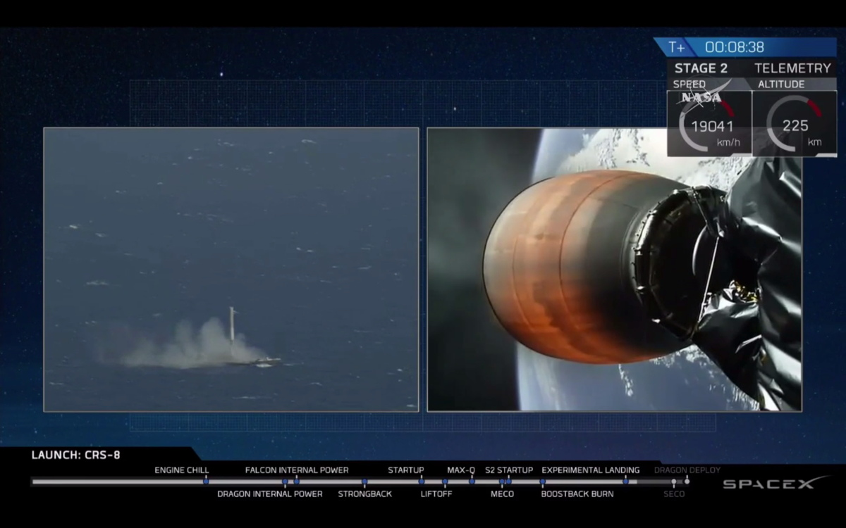 Photos: SpaceX Falcon 9 Rocket Launch and Landing for CRS ...