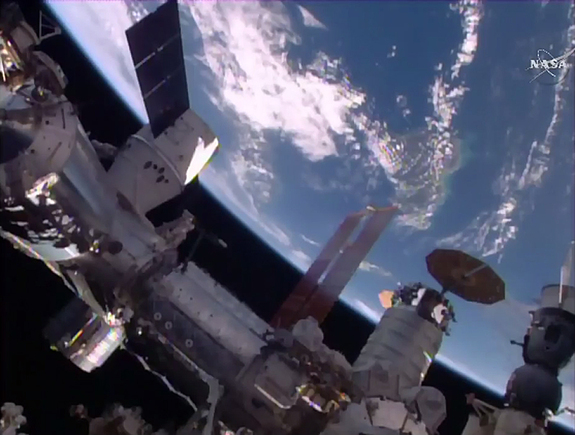 Dragon, Atlas, Soyuz docked to the ISS